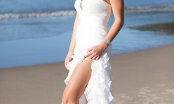 Bride on Noosa Beach
