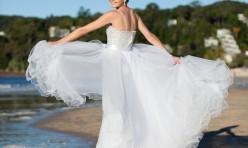 Bride on Noosa Beach